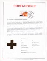 Exemplaire 1 Feuillet Tirage Limité 500 Exemplaires Frappe Or Fin 23 Carats 3072 Croix Rouge Charleroi - Hojas