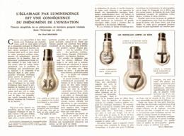 """LES AMPOULES """"  OSGLIM OSRAM """"   L'ECLAIRAGE Par LUMINESCENCE  1924 - Autres"""