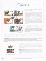 Exemplaire 1 Feuillet Tirage Limité 500 Exemplaires Frappe Or Fin 23 Carats 3064 à 3068 Chiens Belges Namur - Feuillets