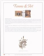 Exemplaire 1 Feuillet Tirage Limité 500 Exemplaires Frappe Or Fin 23 Carats 3061 3065 Femme & Art Peinture Peintre - Feuillets