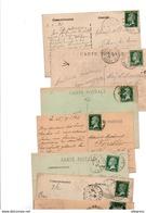 TIMBRE ..TYPE PASTEUR....VOIR DETAIL......LOT DE 200 SUR CPA.....VOIR SCAN......LOT 136 - 1922-26 Pasteur