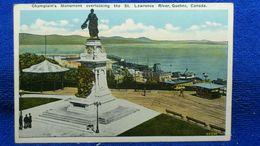 Champlain Monument Overlooking The St. Lawrence River Quebec Canada - Québec - Les Rivières