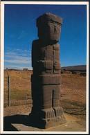 °°° 19492 - BOLIVIA - MONOLITO ESCULTURA TIWANAKU - 1991 With Stamps °°° - Bolivia