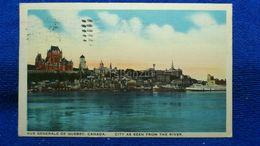 City As Seen From The River Quebec Canada - Québec - Les Rivières