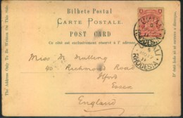 1904, BRITISH SOUTH AFRICA COMP., Picture Card From UMTALI To England - Non Classificati