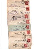 TIMBRE TYPE SEMEUSE LIGNEE..10cROSE .....VOIR DETAIL......LOT DE 150 SUR CPA.....VOIR SCAN......LOT 21 - 1903-60 Semeuse Lignée