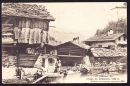 1912 AK Chàtelard. Bahnstempel Martigny Nach Paris - VS Valais