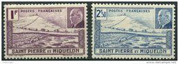 Saint Pierre Et Miquelon (1941) N 210 à 211 * (charniere) - Neufs