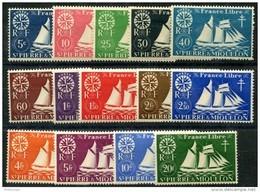 Saint Pierre Et Miquelon (1942) N 296 à 309 * (charniere) - Neufs