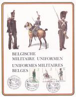 Feuillet 2018 à 2110 Uniformes Militaires Belges - Feuillets