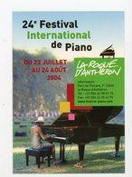 Carte Pub : 24e FESTIVAL DE PIANO À LA ROQUE D'ANTHÉRON - - Reclame