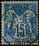 -Sage N°90 Type Ll. O  SAILLANS ( 25 )  5 DEC 1882. - 1876-1898 Sage (Type II)