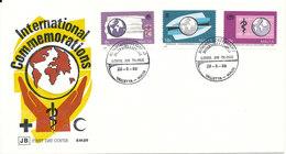 Malta FDC 28-5-1988 International Commemorations Including RED CROSS With Cachet - Malta