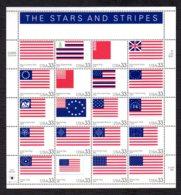 ETATS-UNIS / USA 2000 - Yvert #3086/3105 - Scott #3403 - Neufs ** / MNH - Drapeaux Américains Depuis 1775 - Ongebruikt