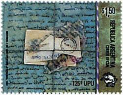 Ref. 75810 * NEW *  - ARGENTINA . 1999. 125th ANNIVERSARY OF UPU. 125 ANIVERSARIO DE LA UPU - Argentina