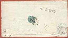 ITALIE ETATS PONTIFICAUX LETTRE DE 1852 DE ROME POUR MACERATA - Etats Pontificaux
