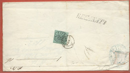 ITALIE ETATS PONTIFICAUX LETTRE DE 1852 DE ROME POUR MACERATA - Stato Pontificio