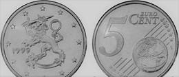 MONNAIE FINLANDE, 5 Euro Cent, 1999 Euro Fautée/error Non Cuivrée - Variétés Et Curiosités