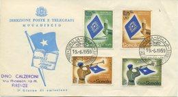 SOMALIA AFIS - FDC DIREZIONE PT  - 1959 - ASSEMBLEA COSTITUENTE - Somalia (AFIS)