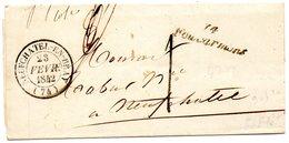 Cursive 74 FOUCARMONT,cachet 14 NEUFCHATEL En BRAY,L.A.C. Du 23/2/42. - 1801-1848: Voorlopers XIX