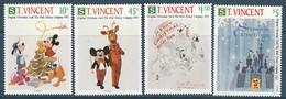 SAINT VINCENT - N°1369/72 ** (1991) WALT DISNEY - - Disney