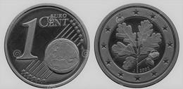 MONNAIE 1 Cent 2002 ALLEMAGNE Euro Fautée Non Cuivrée Etat Superbe - Variétés Et Curiosités