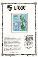 Feuillet Tirage Limité 400 Exemplaires 1872 Liège Outre-Meuse - Feuillets