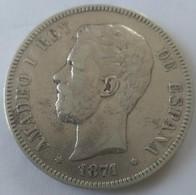 5 Pesetas AMADEO I 1871 - - Primeras Acuñaciones