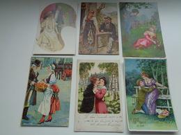 Beau Lot De 20 Cartes Postales De Fantaisie  Couple   Mooi Lot 20 Postkaarten Van Fantasie  Koppel - Cartes Postales