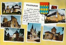 16 VILLEFAGNAN / MULTIVUES AVEC BLASON - Villefagnan