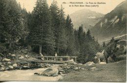 CPA -  PRALOGNAN - PONT DE CHOLLIERE ET LE PETIT MONT-BLANC (ETAT PARFAIT) - Pralognan-la-Vanoise