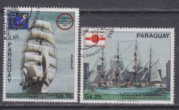 Paraguay PA  N° 843 / 44  O  Expositions Philatéliques, Les 2 Valeurs Oblitérées, TB - Paraguay