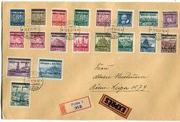 DR Böhmen & Mähren - Brief Mit Michel 1-19 - Germany