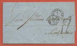 NORVEGE LETTRE DE 1861 DE SANDOSUND POUR MONTPELLIER FRANCE - Norwegen
