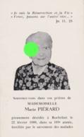 Rochefort Décès D'une Centenaire ( 103 Ans ) Melle MARIE PIERARD - Obituary Notices