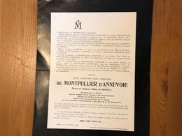 De Montpellier D'Annevoie épox De Donnea Céline Bourgmestre Denee Chambre Représentants *1838 Annevoie +1908 Denee Namur - Décès