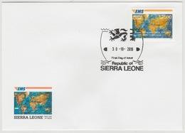 Sierra Leone 2019 Mi. ? FDC IMPERF Joint Issue 20e Anniversaire EMS 20 Years Emission Commune E.M.S. UPU - Sierra Leone (1961-...)