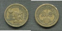MONACO - 50 CENTIMES 1924 POISSY - Monaco