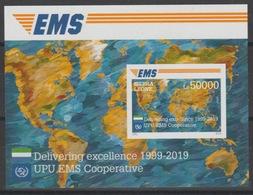 Sierra Leone 2019 Mi. ? IMPERF Souvenir Sheet Joint Issue 20e Anniversaire EMS 20 Years Emission Commune E.M.S. UPU - Sierra Leone (1961-...)