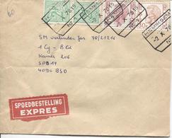 REF591/ TP 1646-1649 Baudouin Elström-1443 S/L.Exprès C.C.F. Hemixsem 2/10/1978 > SPB 14 C.d'arrivée Post.X1 - Cartas