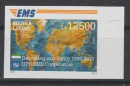 Sierra Leone 2019 IMPERF ND Mi. ? Joint Issue 20e Anniversaire EMS 20 Years Emission Commune E.M.S. UPU - Sierra Leone (1961-...)