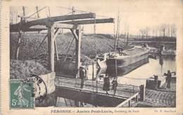 BATEAUX - PENICHES Barge - 80 - PERONNE : Bon Plan Péniche - Ancien Pont Levis - CPA - Lastkähne Aken Chiatte - Arken