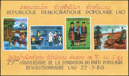Laos 1980 - BF 63/63a ; Block 84 ** MNH  Avec Et Sans Accent - Laos