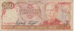 BILLETE DE COSTA RICA DE 500 COLONES AÑO 1989 SERIE C  (BANKNOTE) - Costa Rica