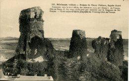 CPA - HERISSON - RUINES DU VIEUX CHATEAU, FACADE OUEST - France