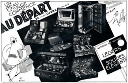 Ancienne Publicité (1930) : Un Beau Voyage Commence AU DEPART, Articles De Voyage, Légers, Solides, élégants, Paris - Werbung