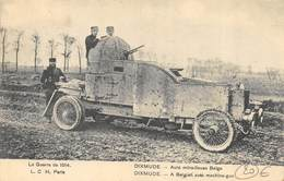 CPA LA GUERRE DE 1914 DIXMUDE AUTO MITRAILLEUSE BELGE - Materiaal