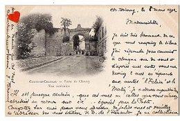 40864-ZE-02-COUCY-LE-CHATEAU-Porte De Chauny-Vue Extérieure---------------animée - France