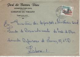 Commercial Cover , JOSÉ BARROS DIAS  , CABANAS DE VIRIATO  , 1972 , Ambulância BEIRA ALTA II Postmark - Postmark Collection