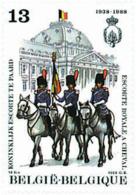 Ref. 85405 * NEW *  - BELGIUM . 1988. 50th ANNIVERSARY OF ROYAL MOUNTED GUARD. 50 ANIVERSARIO DE LA ESCOLTA REAL A CABAL - Nuevos